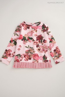 Angel & Rocket Pink Floral Sweat Top