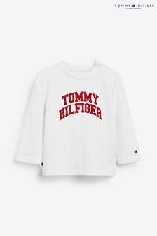 Tommy Hilfiger White Baby Hilfiger Long Sleeve T-Shirt