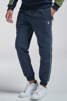 Спортивные брюки классического кроя с отделкой