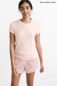 Abercrombie & Fitch Pink Logo Tee