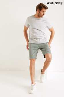 White Stuff Green Portland Geo Organic Shorts