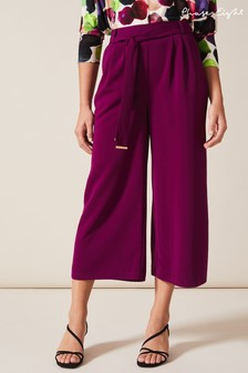 Phase Eight Purple Magma Culottes