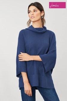 Joules Blue Vanna Kimono Sleeve Rib Jumper