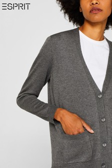 Esprit Grey Cardigan With Organic Cotton