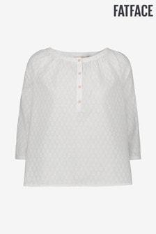 Bluză FatFace Mathilde ivoar din jacquard
