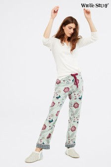 White Stuff Grey Trailling Flower Pyjama Bottoms