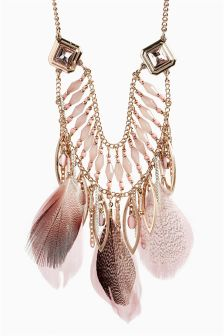 Feather Detail Necklace