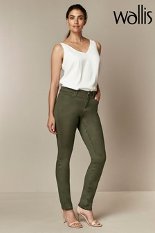 Wallis Green Tinseltown Fly Front Jeans