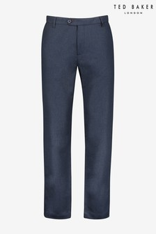 Ted Baker Squishy Slim Fit Herringbone Woven Trousers