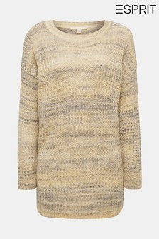 Esprit Long Multicoloured Knitted Sweater With Round Neck