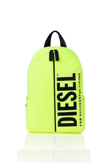 Boys Neon Yellow Logo Backpack