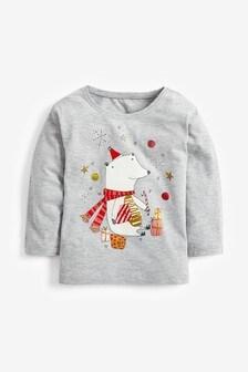 Langärmeliges Weihnachtsshirt (3Monate bis 7Jahre)