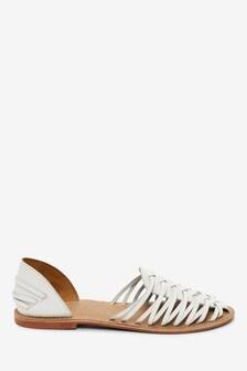 Woven Leather Huarache Shoes