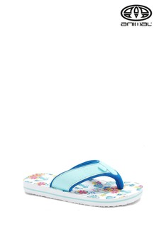 Animal White Swish All Over Print Flip Flops