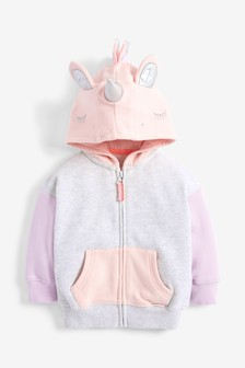 Unicorn Zip Through Hoody (3mths-7yrs)