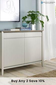 Bergen Grey Washed Oak Soft Grey Narrow Sideboard by Bentley Designs