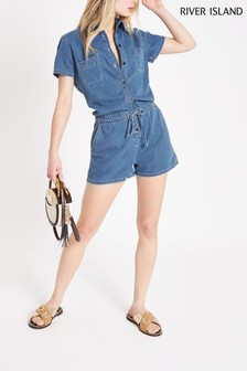 River Island Mid Auth Ness Playsuit