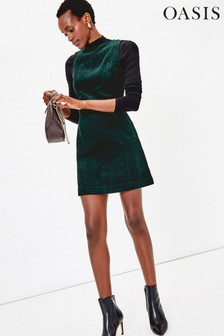 Oasis Green Cord Shift Dress
