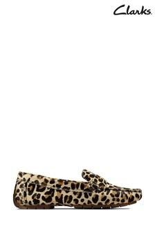 Clarks Leopard PRT Pony C Mocc Shoes