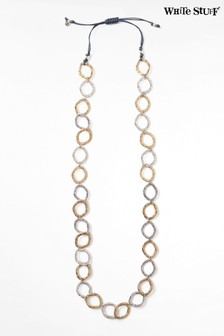 White Stuff Cord & Circle Necklace