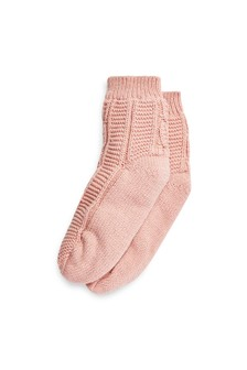 Cable Knitted Bed Socks