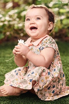 Polarn O. Pyret Pink GOTS Organic Floral Dress