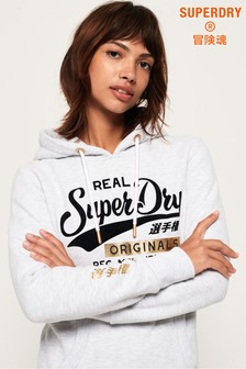 Superdry Real Originals Flock Metallic Hoody