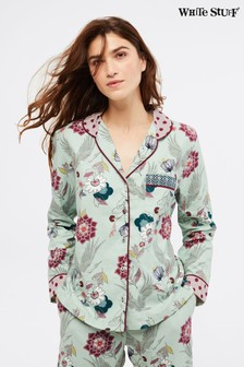 White Stuff Grey Trailling Flower Pyjama Top