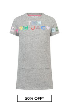 Marc Jacobs Girls Grey Cotton Dress