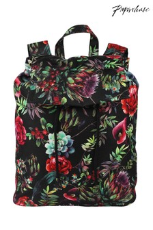 Paperchase Winter Floral Drawstring Backpack