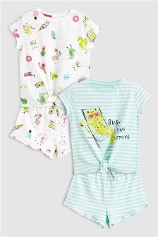 Character Short Pyjamas Two Pack (3-16yrs)