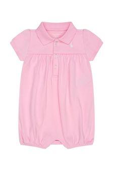 Ralph Lauren Kids Baby Girls Cotton Romper
