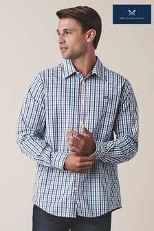 Crew Clothing Blue Classic Fit Multi Gingham Shirt