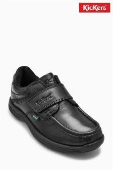 Czarne buty z paskami Kickers® Reason