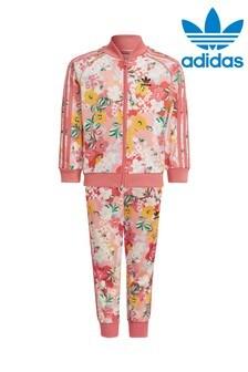 adidas Originals Little Kids Floral Superstar Tracksuit