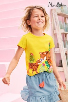 Mini Boden Yellow Safari Appliqué T-Shirt