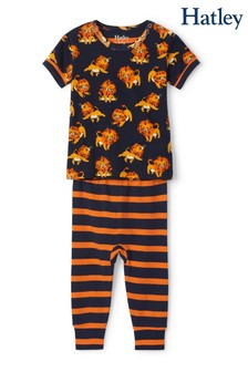 Hatley Blue Little Cubs Organic Cotton Short Sleeve Pyjamas