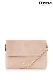Dune London Blush Beliza Front Flap Clutch Bag
