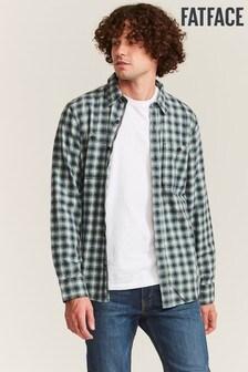 FatFace Green Elshot Check Shirt