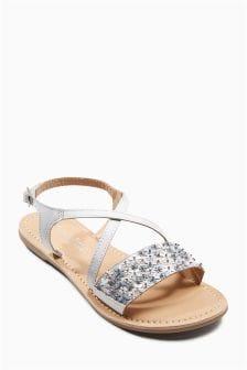 Embellished Flower Sandals (Older)