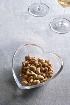Small Heart Shaped Glass Bowl