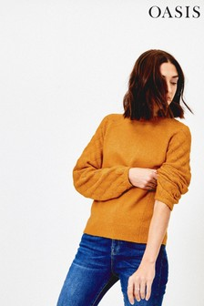 Oasis Yellow Perry Pointelle Jumper
