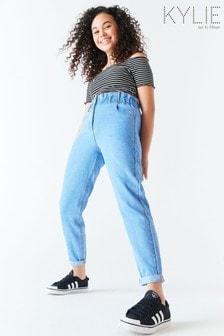 Kylie Blue Paperbag Waist Jeans