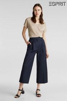 Esprit Blue Cropped Woven Pants