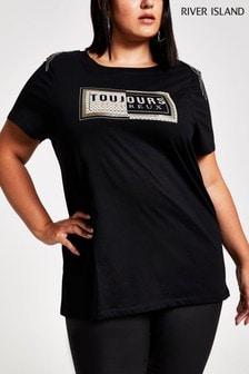 River Island Black Toujours T-Shirt