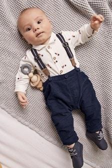 КомплектSmart Bear из3 вещей: рубашка-боди, брюки и подтяжки (0 мес. - 2 лет)