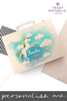 Personalised Unicorn Colouring Set by Treat Republic
