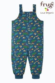 Frugi Blue Bugs Organic Cotton Parsnip Dungarees