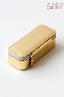 Caroline Gardner Gold Patent Slim Jewellery Box