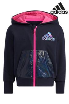 adidas Little Kids Knit Zip Through Hoodie